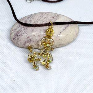 Golden poodle necklace, Poodle lover necklace